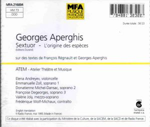 Aperghis Sextuor back