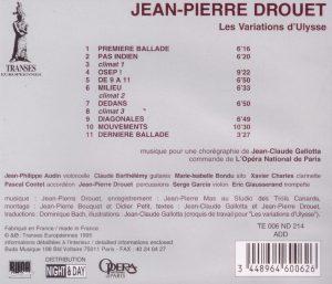 Drouet Variations d'Ulysse back
