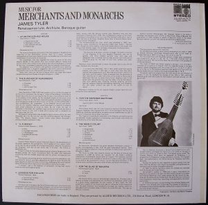 Music for Merchants Tyler LP back