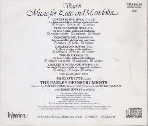 Vivaldi: Music for Lute and Mandolin (Concertos RV 532, 425